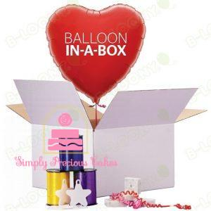 Balloon in a Box , flat balloons & Balloon Accessories